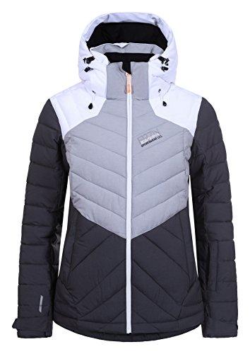 Xxl-damen-snowboard-jacke (Ice Peak Kendra Damen Skijacke, schwarz, XXL (Herstellergröße: 44))