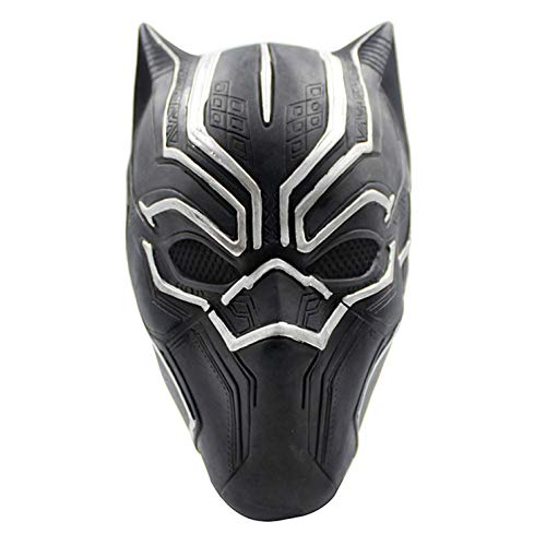 Panther Kopf Kostüm - QQWE Black Panther Maske Kopf Cosplay Film Halloween Show Thema Partei Maskerade Kostüm Prop,Black-OneSize