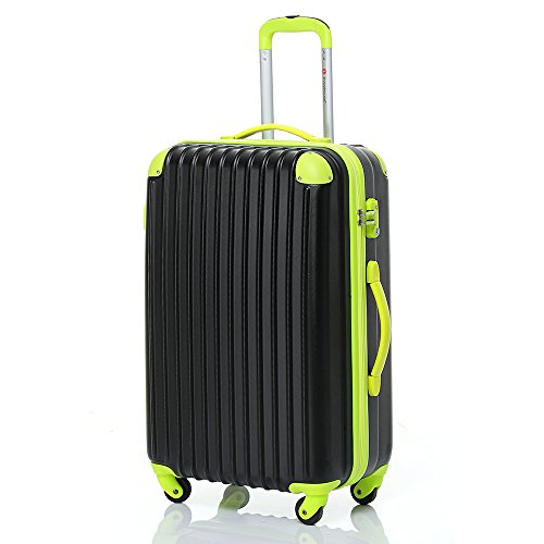 travelhouse-hard-shell-lightweight-travel-luggage-suitcase-4-wheel-spinner-trolley-bag-28-black-gree