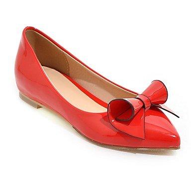 Confortevole ed elegante piatto scarpe donna Appartamenti Primavera Estate Autunno altri PU Office & Carriera Abbigliamento Sportivo tacco piatto Bowknot nero rosa rosso bianco Red