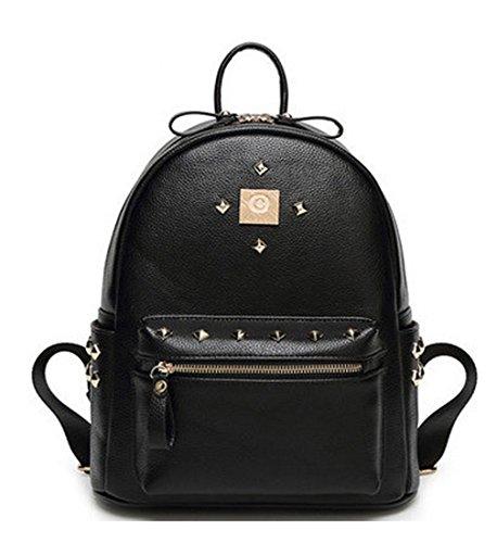 Pu Niedlich Damen accessories hohe Qualität Einfache Tasche Schultertasche Freizeitrucksack Tasche Rucksäcke Orange Keshi 5SY73l5S