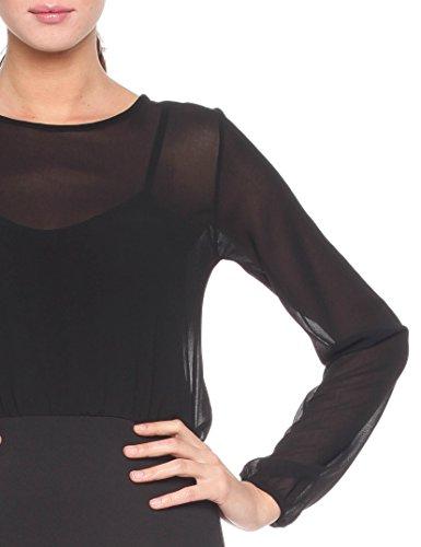 Les Sophistiquees Abito Corto Drappeggiato, Robe Femme Noir