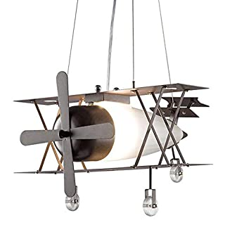 American Wrought Iron Retro Industrial Wind Aircraft Chandelier Personality Bar Restaurant Light Creative Nordic Lamps