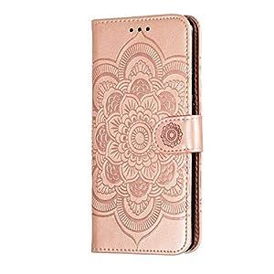 Bear Village® Blumen Muster Hülle für OnePlus 7 Pro, Premium Schutzhülle mit Weich TPU Innere, Magnet Klapp Ständer…
