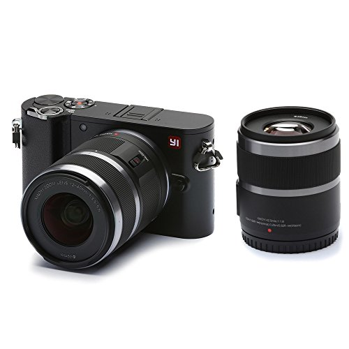 YI M1 Fotocamera digitale Mirrorless Video 4K 20 MP con obiettivo F3.5 – 5.6 da 12 – 40 mm/F1.8 da 42,5 mm, NERO