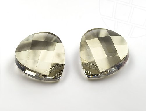 Anhänger von Swarovski Elements  11.0mm x 10.0mm (Crystal-Silver Shade), 6 Stück -