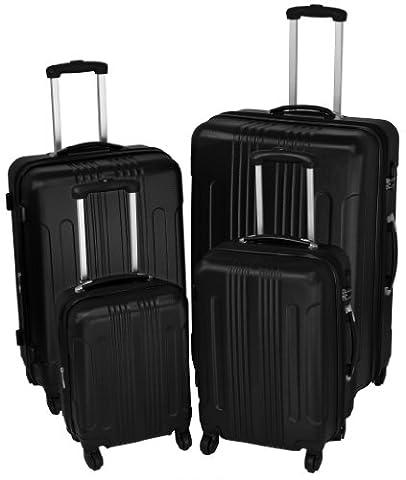 Travelight Ensemble 4 pièces valis'ABS - Noir - noir,