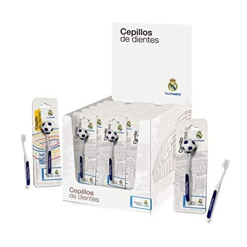Real Madrid Cepillo de Dientes para Adultos - 12 Paquetes de 1 Unidad
