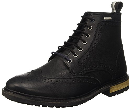 Superdry Super Brad Brogue Stamford Boo, Scarpe a Collo Alto Uomo, Nero (Black Leather J53), 46 EU