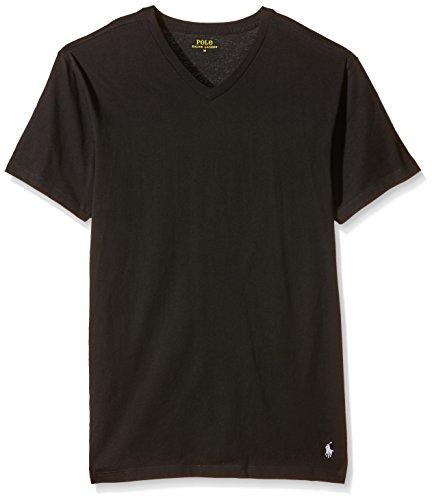 Polo Ralph Lauren Herren Classic T-Shirt, Schwarz (2Pk Polo Black 001), Large (erPack 2