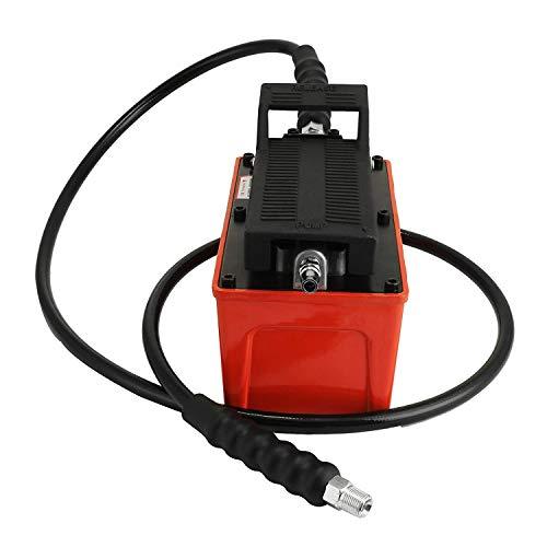 FlowerW 10000 PSI Kapazität Hydraulische Fußpumpe 1/2 Gallone Hydraulikpumpe Luftbetätigte Pedal Hydraulische Pumpe Aluminiumgehäuse Einfachwirkende Auto Repair Tool (Hydraulische Luft Fußpumpe) (Hydraulische Pedale)