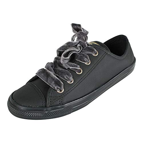 Converse Damen Chuck Taylor CTAS Dainty Ox Sneakers, Schwarz Black/Gold 001, 40 EU