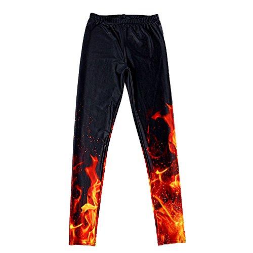 BOZEVON Donna Sport Pantaloni Full Length Leggings Pantaloni Collant Elastico A 5