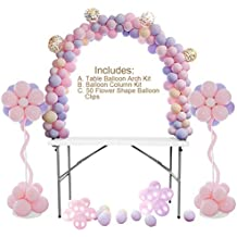 Kit de globos de mesa con arco, globo, columna, soporte, para cumpleaños