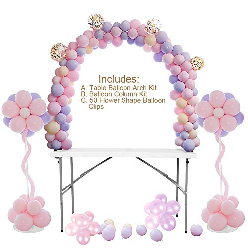 Kit de globos de mesa con arco, globo, columna, soporte, para cumpleaños, boda, graduación y Navidad