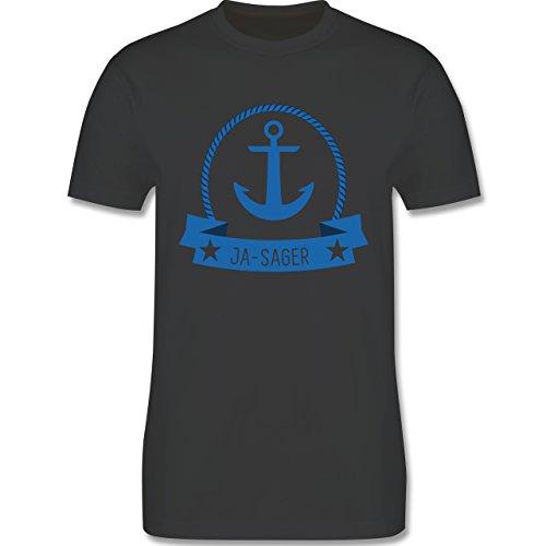JGA Junggesellenabschied - Ja-Sager Anker - Herren Premium T-Shirt Dunkelgrau