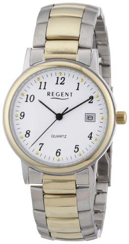 Regent 11160209 - Reloj analógico de cuarzo para hombre con correa de acero inoxidable, color multicolor