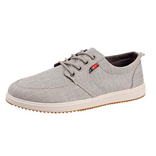 CUTUDE Freizeitschuhe Damen Laufschuhe Weiche Turnschuhe Atmungsaktiv Sportschuhe Loafers Laufschuhe Outdoor Schuhe Sneaker Frauen Sommer Flache Schuhe (Grau, 43 EU)