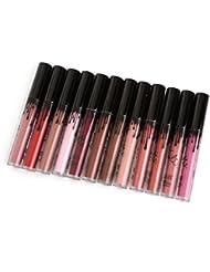 VWH 12 Farben Wasserdichte Dauerrhaft Matte Liquid Lipstik Beauty Lip Gloss