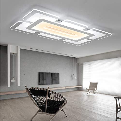 L&L Lámpara de Techo Simple Moderna Rectangular Delgada araña para Sala de Estar Cocina Cuarto de baño Dormitorio,dimming,600x400mm
