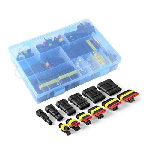 6-way Blade (zhiwenCZW Super Sealed Waterproof Car Electrical Wire Connector Set 1-6 Pin Way Terminal & Blade Fuses)