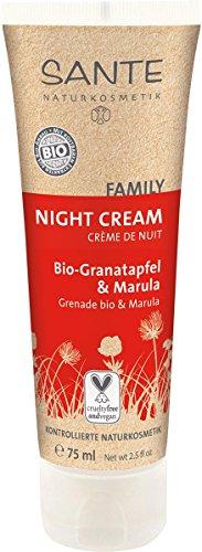 SANTE Naturkosmetik Nachtcreme Bio-Granatapfel & Marula, Regenerierende Wirkung, Tägliche Pflege...