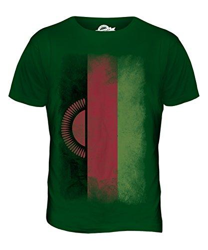CandyMix Malawi Verblichen Flagge Herren T Shirt Flaschengrün