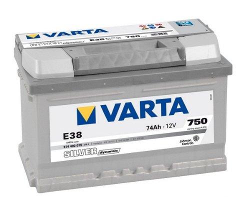 BATTERIA AUTO VARTA SILVER DYNAMIC 12V 74AH E38