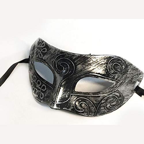 LouiseEvel215 Retro Gentleman Gesichtsmaske Kostüm Party Halloween Maske brüniert antiken venezianischen Mardi Gras Masquerade Ball (Masque Ball Kostüme)