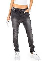 Bestyledberlin pantalon en jean pour femmes, jean baggy j23f