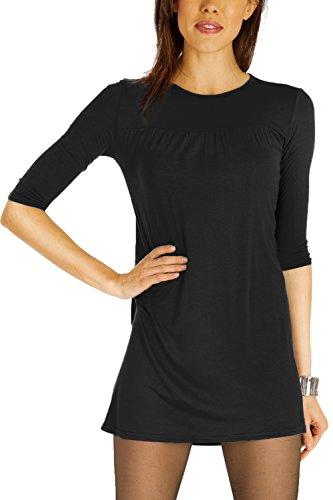 bestyledberlin robes femmes, longtop, blouse t63p Noir