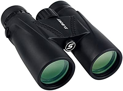 SVBONY FMC 8x42 Prismáticos Binoculars Gran Angular Vista Roof Prism BaK4 (Negro)