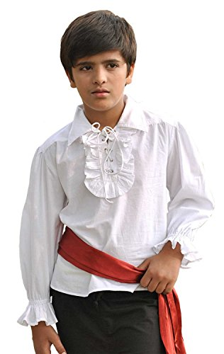 ThePirateDressing Pirate Medieval Renaissance Kids Frilly Shirt Costume C1255 [X-Large]