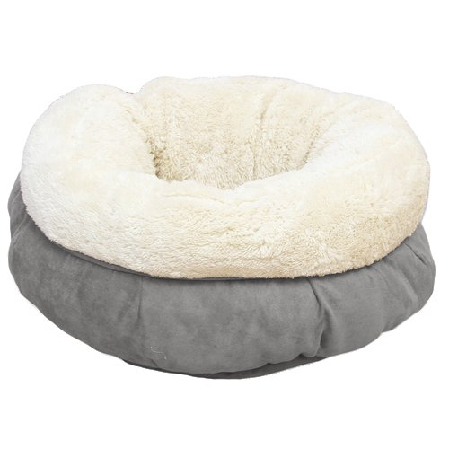 All for Paws Katzenbett Lammfell Donut Bett, grau