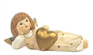 Goebel Schutzengel, Statuetta Decorativa, Angelo Custode con Cuore, Soprammobile, Porcellana, 41491077