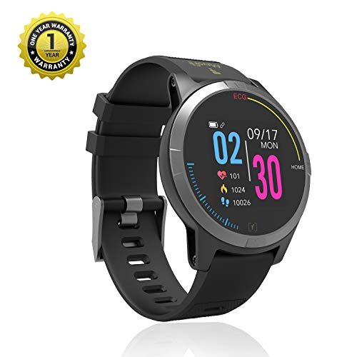 MevoFit Race-Thrust ECG-Smart-Watch for Fitness & Health PRO Sporty-Health-ECG-Smart-Watch, All Activity Tracking (Black)