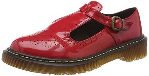 Mädchen Lackleder Mary Jane (Smilun Damen Schnürschuhe Schuhe mit Schnur Business Arbeit Flach Lackleder Rot EU36)