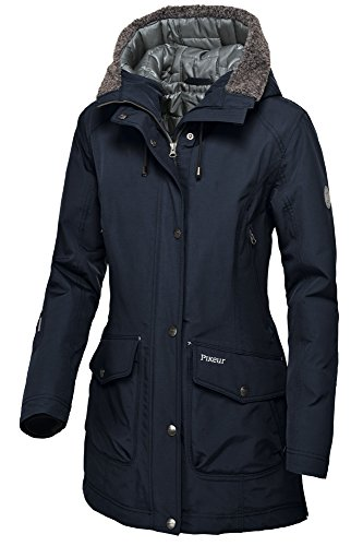 PIKEUR wasserdichter Damen Parka mit fester Kapuze CATALINA, night blue, 44
