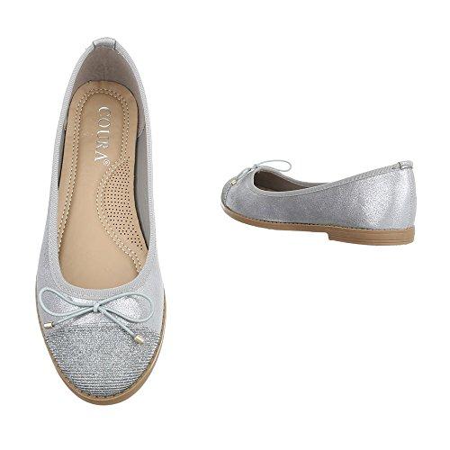 Ital-Design, Ballerine donna Silber 9817