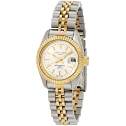 "Charles-Hubert, Paris Women's 6445 ""Classic Collection"" Two-Tone Stainless Steel Watch"