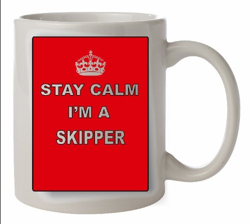 Keep Calm SKIPPER Ceramic Mug - Career Cup Microwave & dishwasher PROOF can be personalised FOC by The Lazy Cow - Skipper Tee