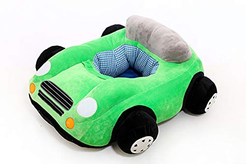 AZUO Kind Sofa Rückenlehne Stuhl Füllung Fahrzeugform Plüsch Spielzeug Kind Spielzeug Kind Lernen Stuhl Junge Tragbar Sitz Teenager,Green