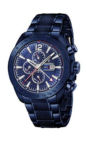Festina Herren Chronograph Quarz Uhr mit Edelstahl Armband F20442/1