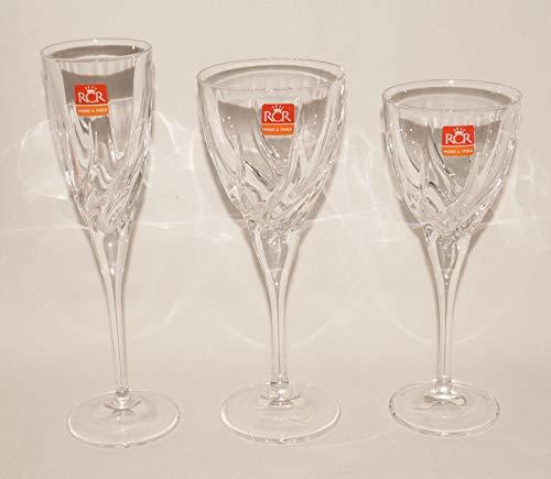 Rcr trix servizio calici, vetro, trasparente, confezione da 18 pezzi