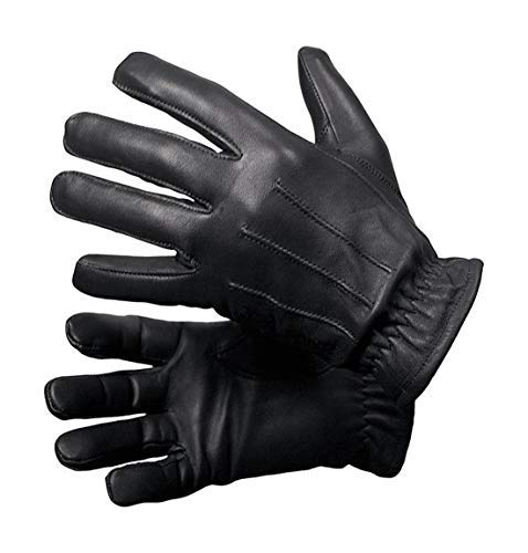 Guanti uomo invernali vera pelle guanti eleganti uomo casual moto outdoor (L)