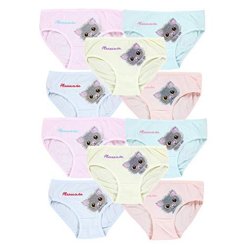 TupTam Mädchen Slips mit Aufdruck 10er Pack, Farbe: Farbenmix 7, Größe: 104-110
