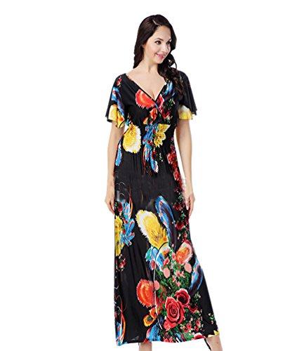 youjia-mujeres-bohemia-manga-corta-vestidos-estampado-verano-vestido-de-playa-coctel-fiesta-2xlnegro