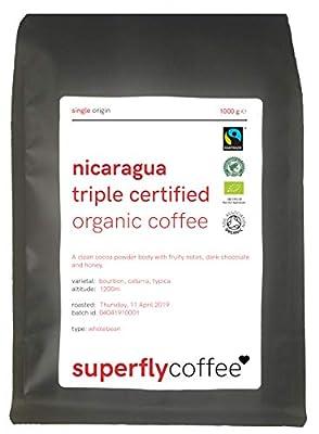 SUPERFLY - Triple Certified Nicaraguan Organic Bulletproof Coffee | Single Origin Arabica | Fairtrade & Rainforest Alliance Nicaraguan Coffee by SUPERFLY
