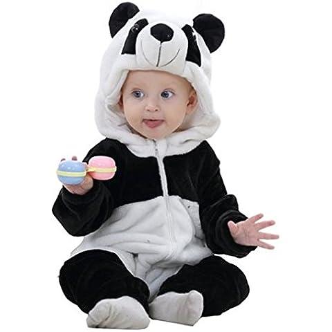 MICHLEY Mameluco de Bebé Unisex Ropa de Franela de Animales de Primavera y Otoño Romper