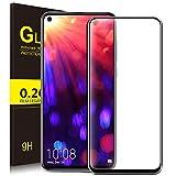 KuGi für Honor View 20 Panzerglas, Huawei Nova 4 Schutzfolie 9H Hartglas Glas Blasenfrei Bildschirmschutzfolie passt Designed für Honor View 20 / Huawei Nova 4 Smartphone.(Schwarz)